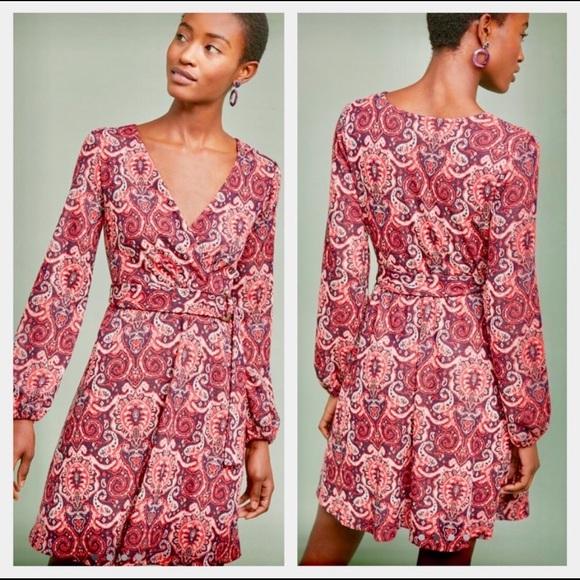 Maeve Dresses & Skirts - New Maeve Paisley Front Wrap Dress - SZ XS